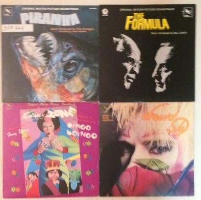 BANDES ORIGINALES DE FILMS Lot de 49 disques 33 T de musiques de films sur le label...