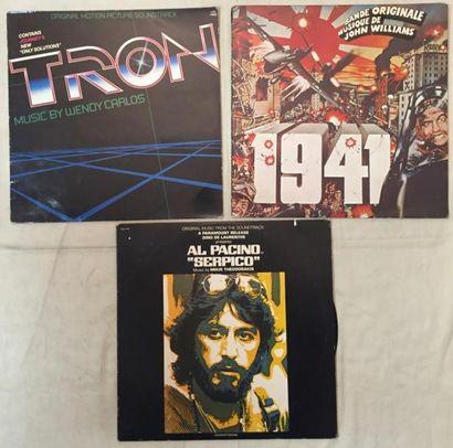 BANDES ORIGINALES DE FILMS .Lot de 35 disques 33 T et de 1 coffret de musiques de...
