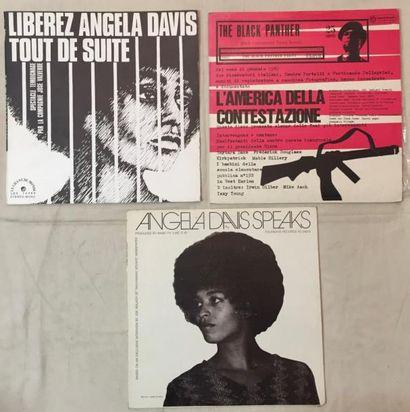 POESIE / DICTION Lot de 3 disques 33 T sur les Black Panthers comprenant Angela Davis...