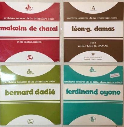 POESIE / DICTION Lot de 16 disques 33 T des Archives sonores de la Littérature noire....
