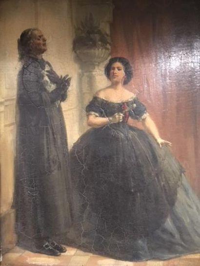 Attribuée à François BONVIN (1817-1887)