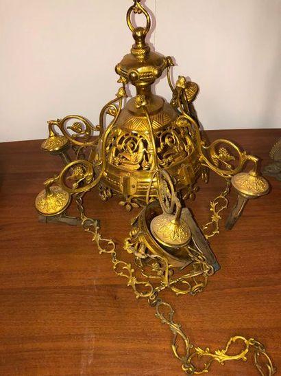 Suspension ajourée en bronze doré, deuxième...
