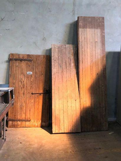 Porte en bois naturel