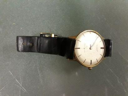 Lot de deux montres:  - montre bracelet d'homme,...