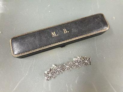 Bracelet en argent (950 millièmes) à décor...