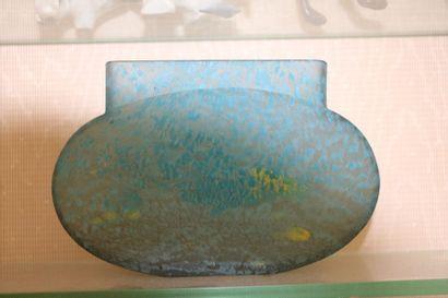 DAUM Nancy - Vase en verre marmoréen à dominante...