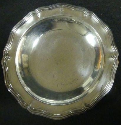 Christofle - Légumier en métal argenté à...