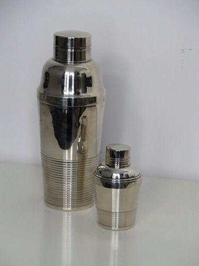 Deux shaker en métal, un petit, un grand...