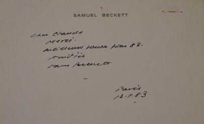 BECKETT (Samuel) auteur dramatique et romancier...