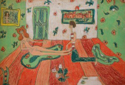 GUGGENHEIM (Pegeen VAIL) peintre américaine,...