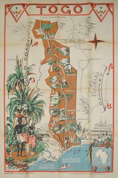 TOGO - AFFICHE Affiche carte lithographiée...