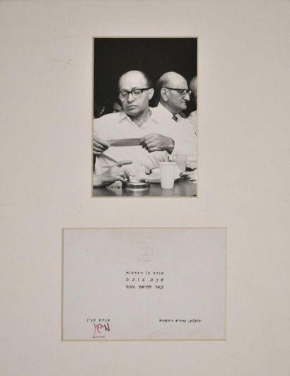 BEGIN (Menahem) homme d'Etat israélien, prix...