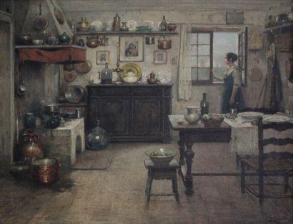 Cesare VIANELLO (1862-c.1920) Femme à la...