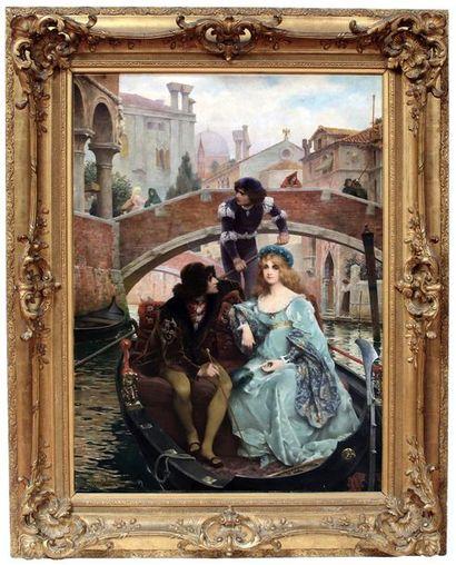 Jacques C. WAGREZ (1850-1908) A Venise au...