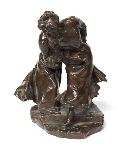 Victor PROUVÉ (1858-1943) Deux femmes au...