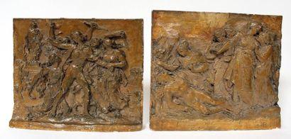 Charles DESVERGNES (1860-1928) Deux scènes...