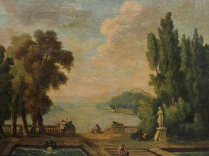 Hubert ROBERT (1733-1808) (dans le goût de),...