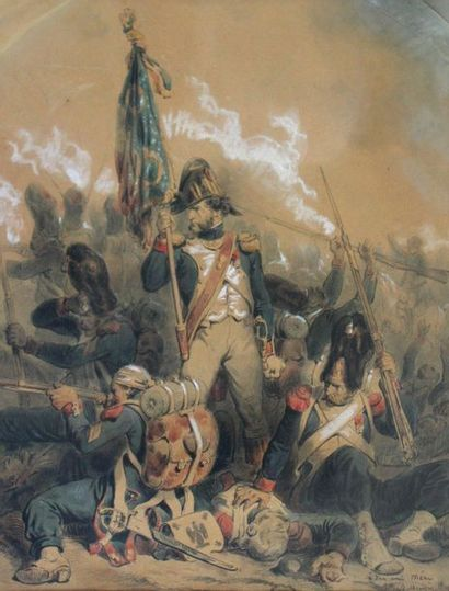 Hippolyte BELLANGÉ (1800-1866) Soldats de...