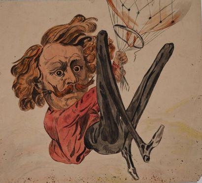 GILL André (1840-1885) [attribué à]. Nadar...