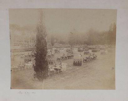 [SECOND-EMPIRE]. ROME 4 juin 1860. Parade...