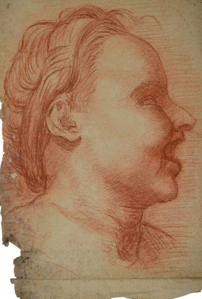 Ecole italienne du XVIIème siècle. Portrait...