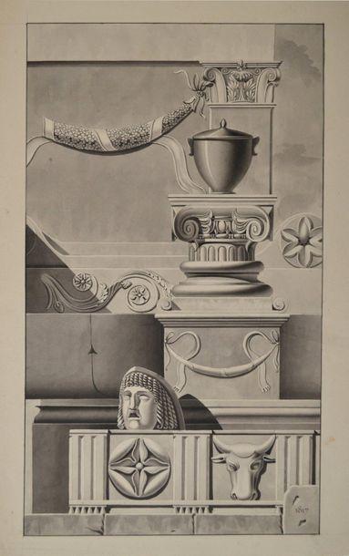 Ecole française du début du XIXème siècle....