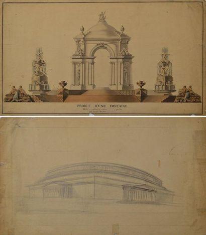 Ecole française du XVIIIème siècle. Projet...