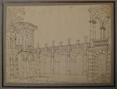 Ecole italienne du XVIIIème siècle. Projet...