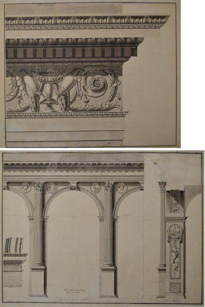 Ecole française vers 1800. Projet pour un...