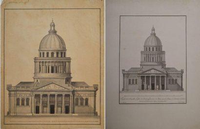 Ecole française du XVIIIème siècle. Le Panthéon,...