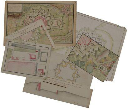 Ecole française du XVIIIème siècle. Plan...