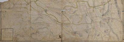 Ecole française du XVIIIème siècle. Carte...