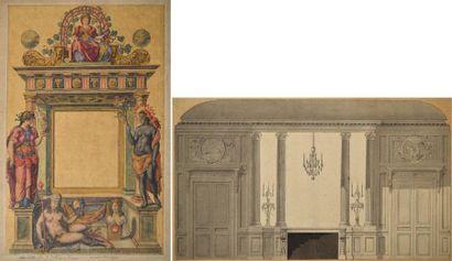 Ecole française de la fin du XVIIIème siècle....