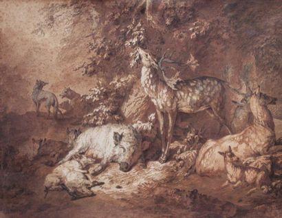 Johan Elias RIDINGER (1698 - 1767) (Attribué...