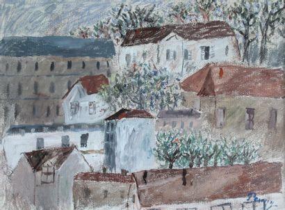 Jean POUGNY (1892-1956) Panorama de village....