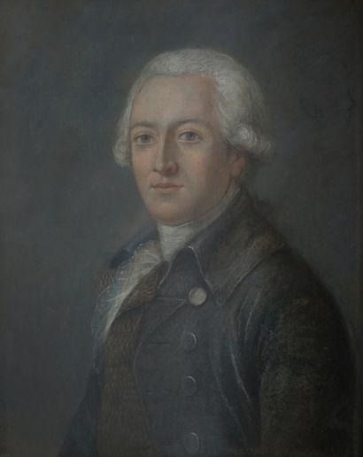 Ecole française XIX ème. Homme de qualité....
