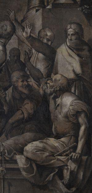 Ecole italienne du XVIIème siècle Fragment...
