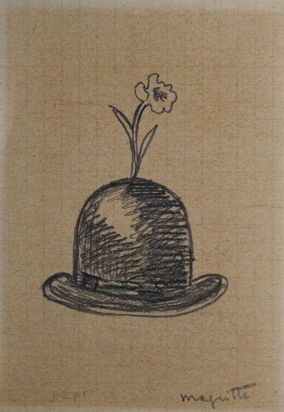 René MAGRITTE (1898-1967) Chapeau melon et...