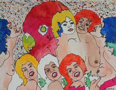 Carmelo CARRA (1945) Groupe de femmes, 1975....