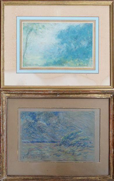Raymond THIBESART (1874-1968). Paysages....