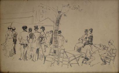 Alfred GREVIN (1827-1892). Animation au parc....