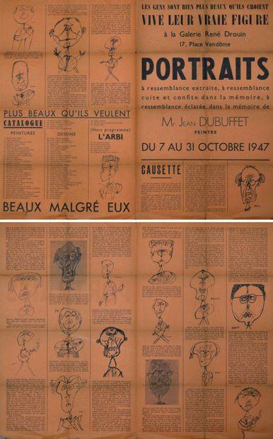 Jean DUBUFFET (1901-1985) LES GENS SONT BIEN...