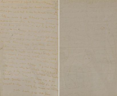 Gaston CHAISSAC (1910-1964) Lettre autographe...