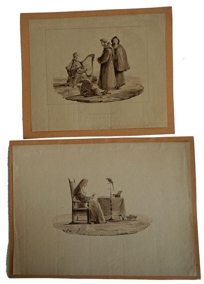 Noël Thomas Joseph CLERIAN (1796-1843) Religieuse...