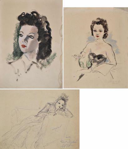 André DIGNIMONT (1891-1965) Femme assise...