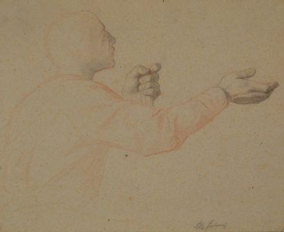 Alexandre CABANEL (1823-1889) Etude d'orant....