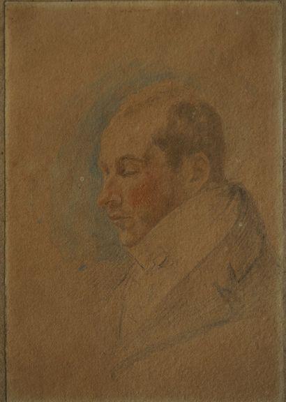 Ecole anglaise fin XVIIIe-début XIXe. Portrait...