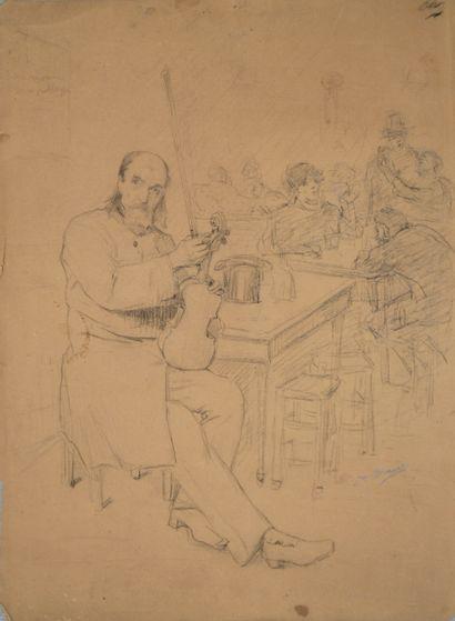 Jean-Baptiste BRUNET (1850-1917) Violoniste...
