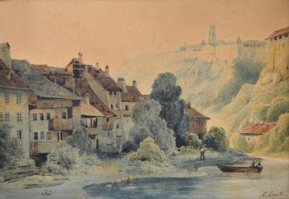 Louis Auguste LAPITO (1803-1874) Barque de...