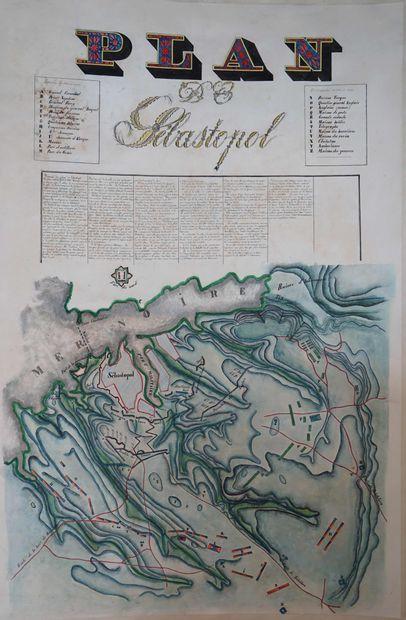 Ecole française XIXe. Plan de Sébastopol....